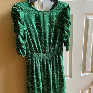 The CUTEST Green Polka Dot Dress